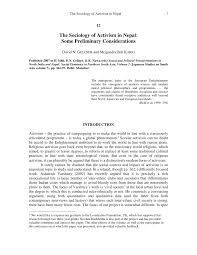pdf sociology of activism in some preliminary considerations