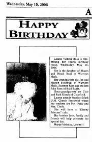 Lauren Victoria Ross 4th birthday - Newspapers.com