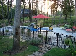 Carmel 32a Viking Pools Custom Design Clearwater Fiberglass Pools Louisville Ky Inground Pool Landscaping Backyard Pool Landscaping Pool Landscaping