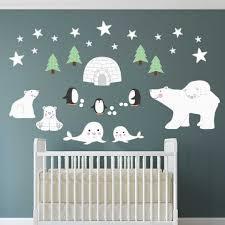 Polar Bear Decal Penguin Wall Stickers Igloo Seal Nursery Etsy