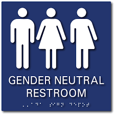 gender neutral bathroom signs with all