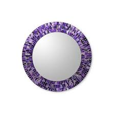 novica round wall mirror and frame