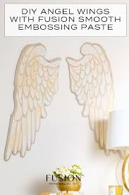 diy angel wings with fusion smooth