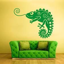 Chameleon Wall Decal Iguana Sticker Lizard Decor Bathroom Etsy