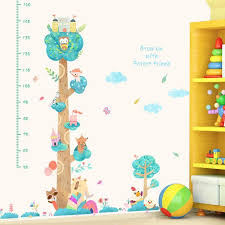 Forest Height Measure Wall Stickers For Kids Rooms Decor Cartoon Animals Wall Decals Nursery Room Art Home Decor Wall Art Murals Decals Stickers Wall Art Quote Stickers From Qiansuning88 56 13 Dhgate Com