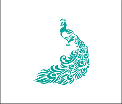 Peacock Decal Beautiful Car Decal Vinyl Decal Feathers Bird Lover Bird Peacock Car Sticker Girly Yeti Tumbler Feather Peacock Painting Peacock Art Art
