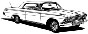 62 Chevy Impala Decal Bcc Classic Cars Large 12 Window Stickers Wildlife Decal