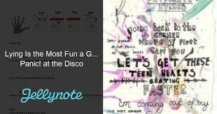 panic at the disco sheet tabs