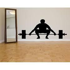 Aratikdesigns Wall Room Decor Art Vinyl Sticker Mural Decal Sport Gym Body Builder Power Free Weight Lift Lifter As2124