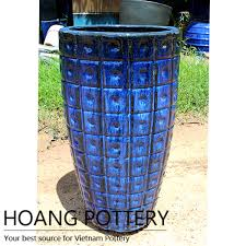 tall glazed ceramic planter from hoang