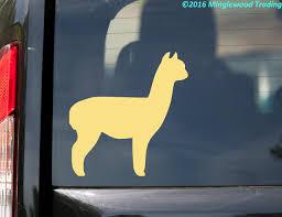 Alpaca Vinyl Decal Sticker 5 X 5 Camel Llama Suri Huacaya Minglewood Trading