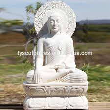 outdoor life size marble buddha statue