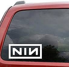 Amazon Com Sticker For Car Nine Inch Nails Rock Band Stickers Vinyl For Car Truck Window Bumper Laptop Vinyl Decals Kitchen Dining