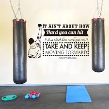Modern Boxing Player Rocky Balboa Quote Wall Sticker Gym Fitness Sport Boxing Inspirational Motivational Quote Wall Decal Vinyl Wall Stickers Aliexpress