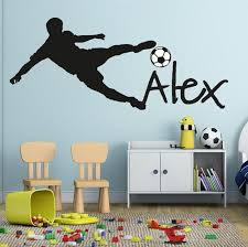 Customized Personalized Name Children Art Home Decor Nursery Wall Stickers For Kids Rooms Vinyl Sticker Decal Removable Poster In 2020 Wall Stickers Sports Kids Room Wall Stickers Wall Stickers Kids