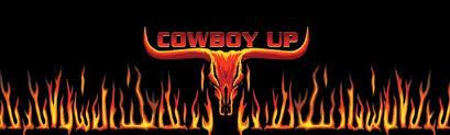 Cowboy Up Longhorn Flame Rear Window Graphic Rwg1422 Customautotrim