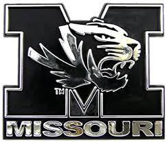 Amazon Com Missouri Tigers Mizzou Ncaa Chrome 3d For Auto Car Truck Emblem Decal Sticker College Officially Licensed Team Logo Sports Outdoors