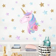 Unicorn Kids Room Wall Stickers Pink Cute Cartoon Stickers Heart Star Kindergarten Decoration Diy Home Decor Wall Decals Sticker Stickers For Bedroom Walls Stickers For Bedroom Walls Removable From Ziyu168 2 32 Dhgate Com