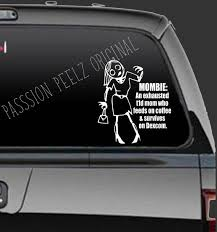 Diabetes Zombie Mom Mombie Decal Window Decal Car Etsy