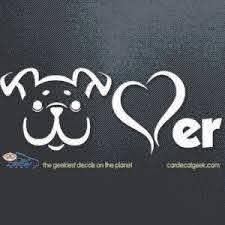 Dog Lover Vinyl Car Window Decal Sticker Pet Decals