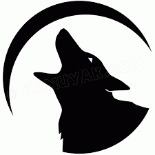 Howling Wolf Decal Sticker Set For Canoe Or Kayak