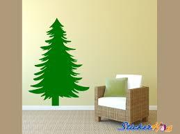 Christmas Pine Tree Living Room Family Room Vinyl Wall Decal