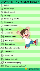 calm down synonym 25 ways to say calm