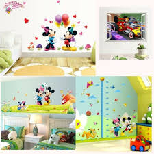 Minnie Mickey Mouse Height Chart Wall Sticker Decals Kids Room Nursery Decors For Sale Online Ebay