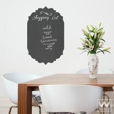 Shopping List Chalkboard Vinyl Wall Decal For Kitchen Wall Decor Wallternatives