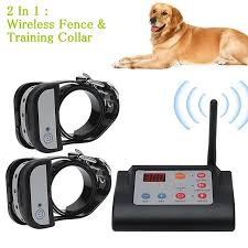 2 In 1 Wireless Electric Pet Dog Fence Amp Training Collar Dog Training Collars Waterproof Rechargeable Pet Containment System For Two Dogs 7644153 2020 148 79
