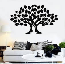 Vinyl Wall Decal Yoga Meditation Center Tree Buddhism Stickers Mural 094ig Wall Painting Decor Diy Wall Painting Wall Decor Design