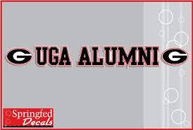 Amazon Com Georgia Bulldogs Uga Alumni Strip Vinyl Decal Car Truck Window Sticker Uga Automotive