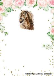 Free Printable Horse Birthday Invitation Templates Fiestas De