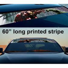 Buy 60 Tony Stark Industries V1 Suit Helmet Dark Sun Strip Printed Windshield Graphics Car Vinyl Sticker Decal