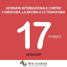 Giornata internazionale contro l'omofobia, la bifobia e la ...