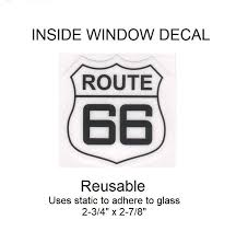 Us Route 66 Inside Window Decal 2 3 4 X 2 7 8 Patch Parlor