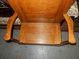 outstanding antique american oak hall