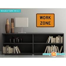 Work Zone Sign Fabric Wall Decal Traffic And Street Signs 3 Sizes Available Small Walmart Com Walmart Com