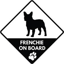 French Bulldog Frenchie On Board Vinyl Window Decal Etsy