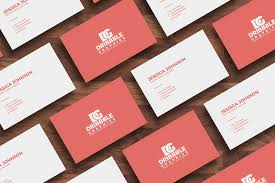 free isolated business card mockup