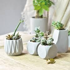 concrete plant pot flower uk diy