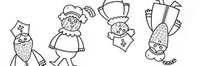 Kleurplaat Sint En Piet Andersom Crea Met Kids