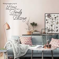 Wall Quote Sticker Home Family Blessing Removable Vinyl Wall Art Home Decor Bedroom Sitting Room Decal Diy Decorating Wall Stickers Decorating With Wall Decals From Qiansuning888 19 98 Dhgate Com