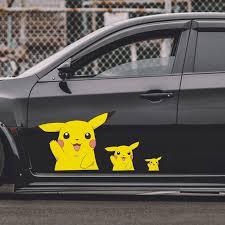 2 X Pikachu Pokemon Vinyl Car Graphics Decal Car Window Sign Funny Car Sticker