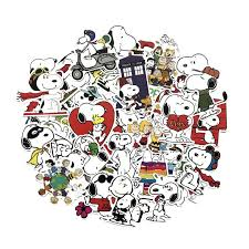 2020 Funny Cute Snoopy Stickers For Laptop Car Styling Phone Luggage Bike Motorcycle Mixed Cartoon Pvc Waterproof Cartoon Decal From Royal120 2 26 Dhgate Com