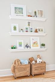Cooper S Soothing Neutral Nursery Stylish Toy Storage Floating Shelves Diy Toy Storage