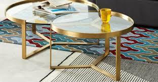 aula nesting coffee table brushed