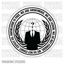 Anonymous Guy Fawkes Decal Diecut Decal Sticker Laptop Bumper Car Anon Vendetta Ebay