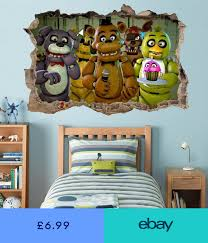 Five Nights At Freddy S 3d Smashed Wall Sticker Decal Home Decor Art Mural J1214 Boys Bedroom Decor Home Decor Decor
