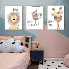 Baby Animal Posters Nursery Canvas Wall Art Prints Painting Zebra Hippo Picture Kids Bedroom Canvas Art Decoration Painting Buy Canvas Painting Kids Bedroom Decorative Painting Canvas Wall Art Prints Product On Alibaba Com